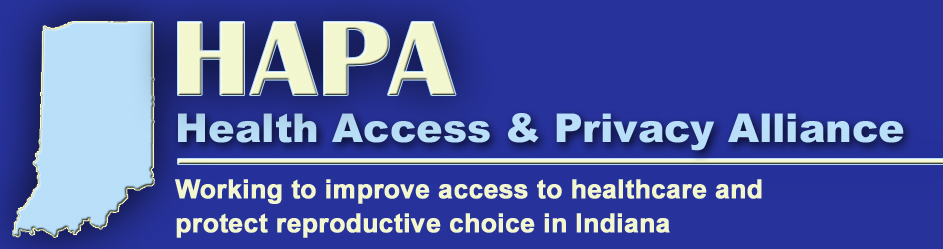 HAPA--Health Access & Privacy Alliance title with outline of state